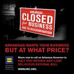 .@ArkansasSenate passes discriminatory Religious Refusal Bill. RT/Join @HRC in calling on Gov.@AsaHutchinson to veto http://t.co/xoW50yUn8Z