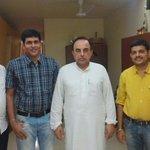 RT @vijaypooni: With Dr @Swamy39 at Mumbai  @bhandary_sudhir @jagdishshetty http://t.co/TfRUs7qEG7