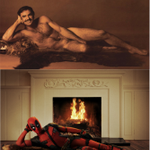 From one Reynolds to another. @deadpoolmovie #deadpoolmovie #takeitoff http://t.co/mf3FE8fvU0