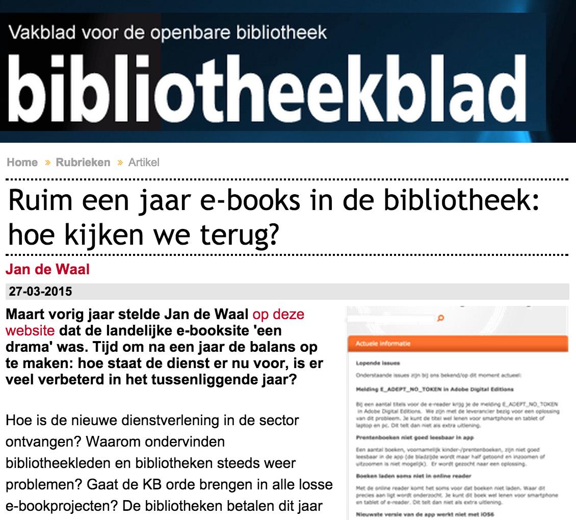 e-books in de bibliotheek: hoe kijken we terug? Kritische analyse in @Bibliotheekblad http://t.co/z3lkg5l3lE http://t.co/10QzZqDloa