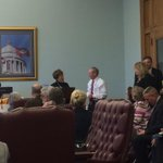Chairman Jane English presenting Tony Wood with a Senate citation in appreciation of his service http://t.co/wc5ka51E9V