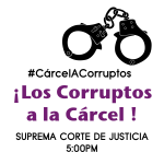 Si te duele este país y estas en contra de la corrupción, te esperamos a 5pm frente a la Suprema #EntierroDeJusticia http://t.co/UnDFL9OWvX