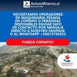 Atención! se necesitan operadores de maquinaria pesada. @reddeemergencia @TVN @tvn_gonzalo #chilebusca #Copiapo http://t.co/TMLZv3W25J