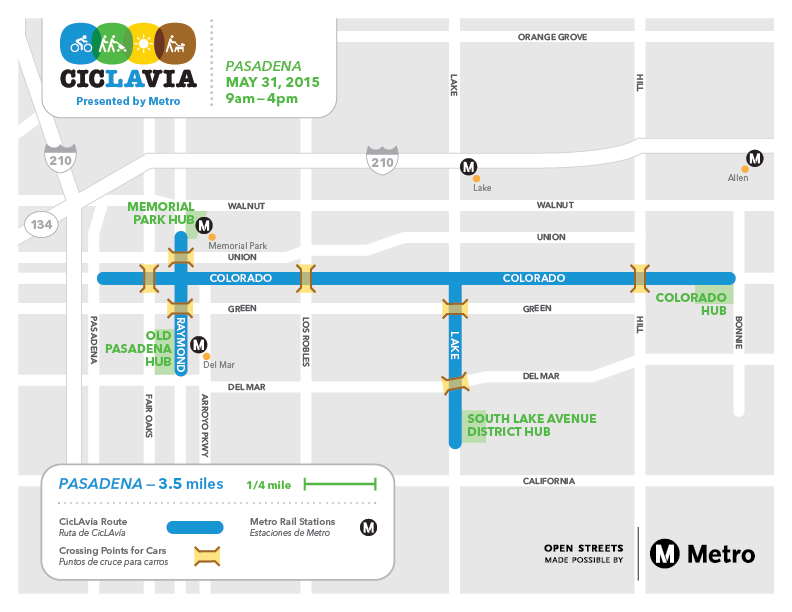 Hey! We're coming to Pasadena on May 31 with CicLAvia-Pasadena Presented by @metrolosangeles https://t.co/M7RKlit6Bb http://t.co/KC2HCH4CMC