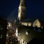 Roof top view of the city. #richardreburied #leicesterglow http://t.co/CWQjECBUa9