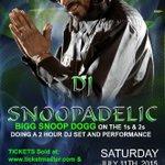 #DJSNOOPADELIC July 11 in Ft Wayne Indiana @PieresNightclub Shout out 2 my neffews Robbie n Fred ! Ugot2doit ubitchu http://t.co/fAkzvyeNzu