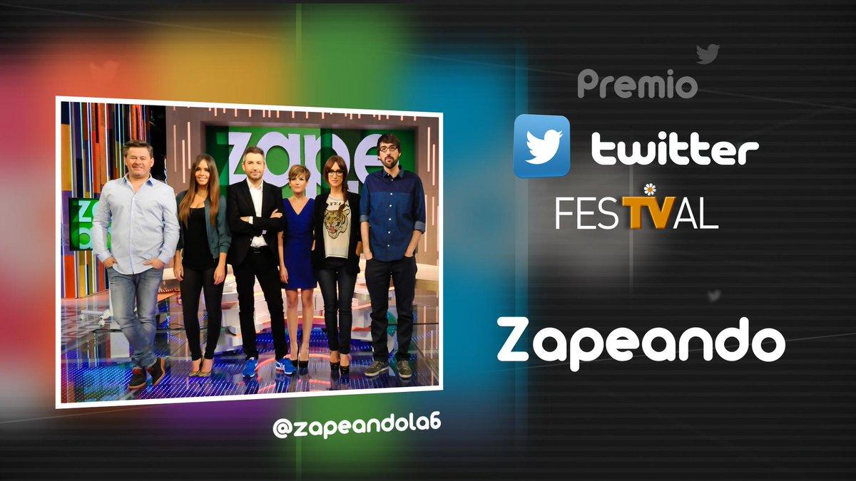 Premio Twitter del #FesTVal a @zapeandola6. Enhorabuena a todo el reparto y a todo el equipo que lo hacéis posible. http://t.co/p7HQHGZad2