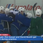#Leafs Phil Kessel, David Booth fight during practice http://t.co/xee5ATWmQg http://t.co/Usi1eLI7LN