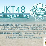 [INFO] Palembang siap2 ya @ghaidaJKT48 @Sisil_JKT48 & @R_AninJKT48 bakalan #JKT48Keliling2Pareo di @101globalradio !! http://t.co/1KqBmP1H6V