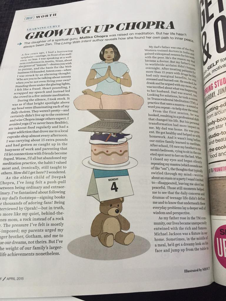 I'm a caricature in April's @SELFmagazine ! Thank you for sharing #LivingWithIntent. http://t.co/VLJ5pDJqeo