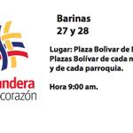 """Barinas también somos """"Una bandera, un solo corazón"""", llégate al punto de recolección en la Plaza Bolívar de Barinas http://t.co/tQHXIBTFUH"""