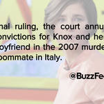 Amanda Knox Guilty Verdict Overturned By Italy's Highest Court http://t.co/QShDwJ8kal http://t.co/xQIHP0ZNqV