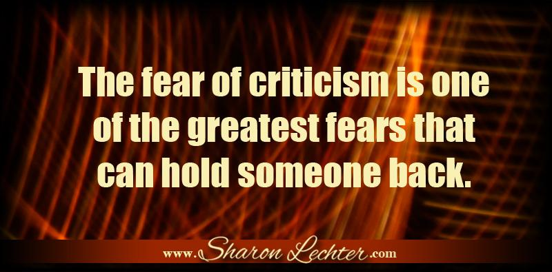"Lechter sensibility - ""The fear of criticism is one..."" Visit us at http://t.co/AagpQbMuFT. #Success #Giveityourall http://t.co/TwWsTlv6oq"