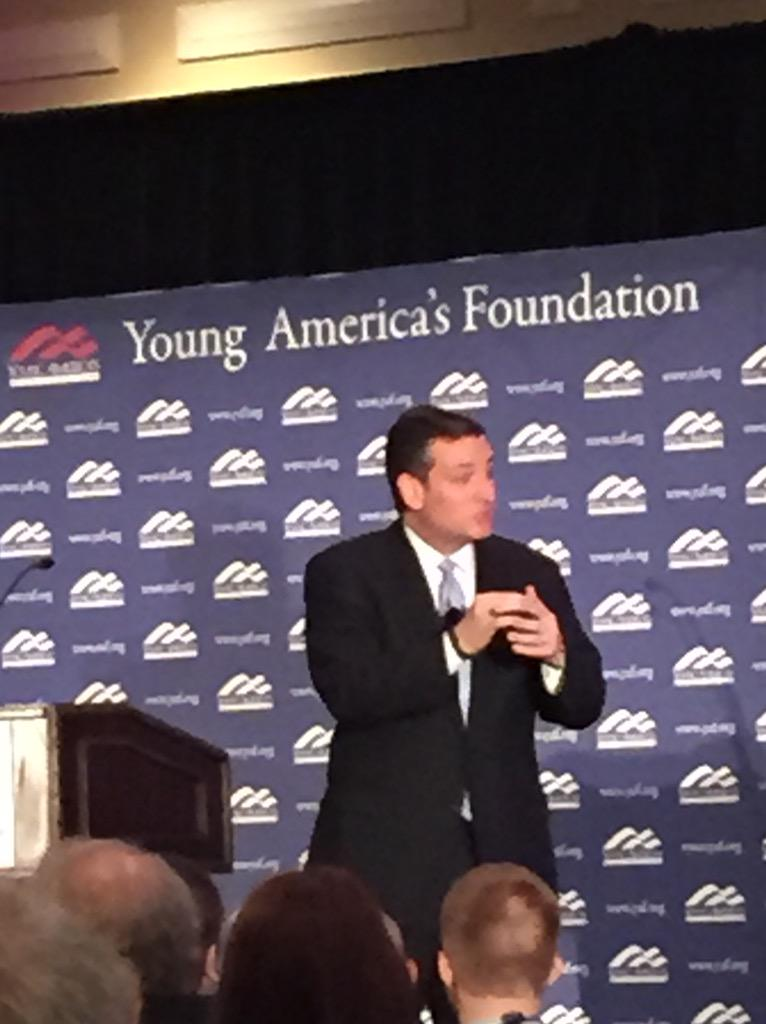 """""""Young people have always been on the cusp of change."""" -Ted Cruz #yafcon http://t.co/9tgo8MHSEQ"""