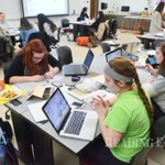 Students at @KutztownU work all night designing for good causes #DESIGNaTHON http://t.co/MWZagyyQtd
