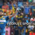 """Sri Lanka Cricket Legend Kumar Sangakkara won the """"Peoples Sportsman"""" award at SLIM Awards 2015 #SL #LKA #Sanga http://t.co/MtZoCQiNxQ"""