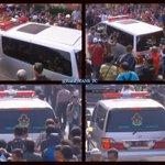 Masuk liputan 6 SCTV twitnya > @FamilyRANS_FC Jenazah Olga sudah tiba, di dlam ambulance #RIPOlgaSyahputra http://t.co/7Z8x1jg3YQ