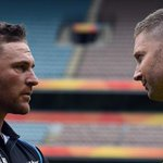 Was this the moment that Michael Clarke told Brendon McCullum the #cwc15 final would be his final ODI? #cwc15 #AUSvNZ http://t.co/JLSezu4mjH