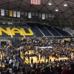 Most wins in school history ✅. Congratulations @NAUBasketball and @naucoachmurphy! http://t.co/cFmQY8pN8m
