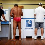 Nobody votes quite like Australia. Cracking picture from Bondi. #nswvotes #nswpol http://t.co/hNecp5mMh4 http://t.co/oBptMKHruP