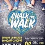 """@Geelong_Mayor: 1 sleep 2 go! Be sure to check out #ChalktheWalk & help us raise money for the #GoodFridayAppeal  http://t.co/WAVzByeIjo"""