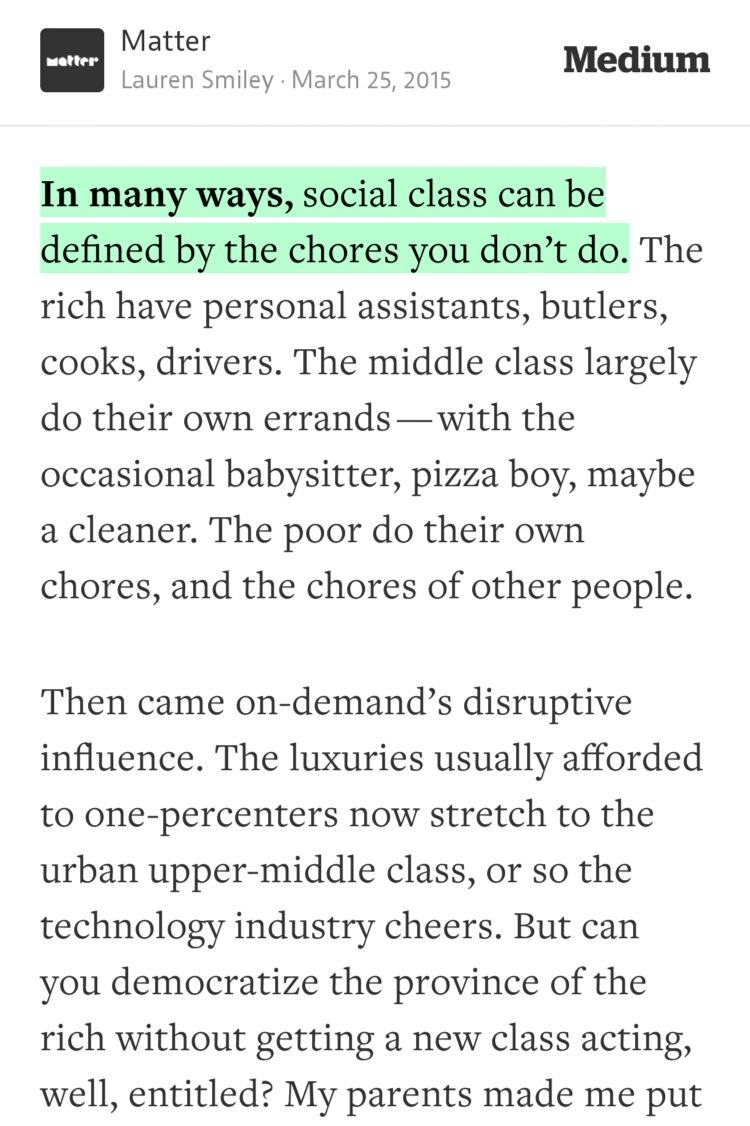 """In many ways, social class can be defined by the chores you don't do."" —Lauren Smiley https://t.co/1FhMuwgcd1 http://t.co/EiLt4MoOml"