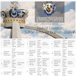 Jadual Lawatan DYMM Sultan Johor Ke Daerah-Daerah (Jamuan Teh Rakyat & Majlis) #KemahkotaanJohor http://t.co/3E8zd8kZ6K