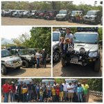 At the #Suv drive organized at Amby valley for @offroadjunkie fans & friends.