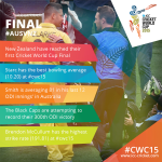 The stats that could decide the #cwc15 Final! http://t.co/QfXbvaFihV #AUSvNZ http://t.co/tbs1whCAjJ