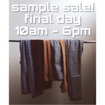 Its the final day of our Spring Sample Sale! 10am-6pm. Lots of mens & womens jeans, jackets, tees & more available http://t.co/RTW9fIrb7D