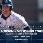 #Auburn and Mississippi State meet in game two of the series on Saturday at 2 pm on SECN+ #WarEagle http://t.co/ufC5MX0Oxn