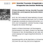 Werden Traumata vererbt? Vortrag #Kriegskinder & #Kriegsenkel am 8. Mai in #Bonn http://t.co/3JLhFEPE5O http://t.co/Np9l4fkV5a