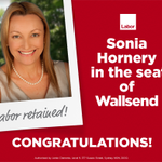 Congratulations to Sonia Hornery and the Wallsend Labor team #nswvotes #nswdecides http://t.co/V74S3HvfVc