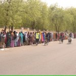 Women in Maiduguri waiting for accreditation. They have defiled #BokoHaram. #RedefineNigeria #Nigeriadecides http://t.co/hUz3kvouZT