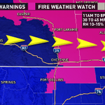 These warmer temps will come at a cost. Fire danger increases for WY, NE, NoCo. @9News #9wx http://t.co/YCDGRpxSGi