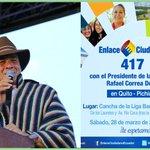 #Ecuador #PatriaGrande Para desenmascarar #LosMismosDeSiempre toca #Enlace417 Cátedra #HablandoLaPlenaComoElMashi http://t.co/YiWTTu8ogR