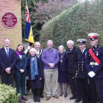 Unveiling of plaque of Tun Wells citizen & VC holder Lionel Queripel V.C. Killed in action in 1944 saving his men http://t.co/L5Rd7EufWH