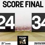 Et cest fini au Vélodrome ! Le Stade Toulousain crée lexploit et simpose face à Toulon #RCTST http://t.co/AK9osZa1CC