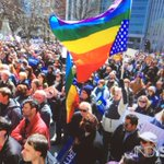 Hundreds rally at Indiana Statehouse to reject #Indianas #ReligiousFreedom #RFRA, passed and signed this week. http://t.co/IUn6TDMWfL