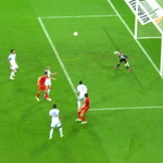 GOAL! Israel 0 - 1 Wales (Ramsey). Ramsey header right on the stroke of HT: Sky Sports 5! http://t.co/Jgdg8tPIPQ http://t.co/APWppBrrJl