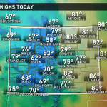 Temps from 15 to 20 degrees above average today in #Colorado. @9News #9wx #spring http://t.co/S7bIBf3acr