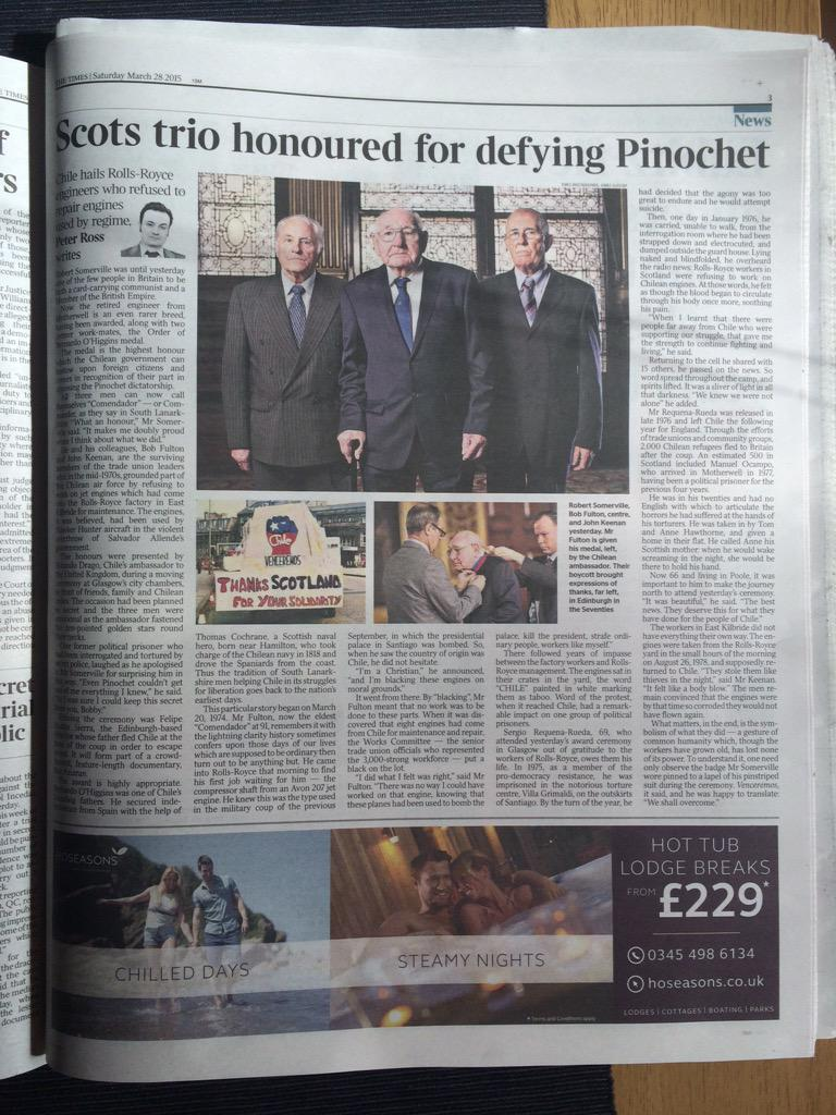 NAE PASARAN (@naepasaran) and yesterday's moving ceremony in today's Times newspaper! http://t.co/FFhABA3fei http://t.co/fk0VmFaGUq