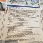 Attention all copy editors....were hiring @WinnipegNews. Send us your CV at resumes@freepress.mb.ca http://t.co/PV28aWIQV5