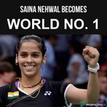RT @zodiak217: #India can be proud! 1st Indian No.1 in #Badminton! It's sounds good! @MirzaSania @Leander @rohanbopanna @NSaina