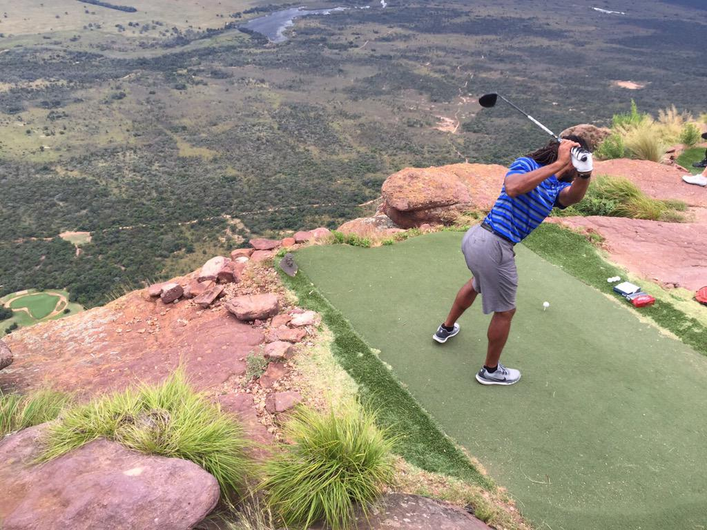 Extreme 19th hole at the Legends course in South Africa. Longest par 3 in the world. Don't ask what I made on it
