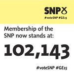 .@NicolaSturgeon announces membership of the SNP is now 102,143 #VoteSNP #SNPConf #GE15 http://t.co/euEYzyIWNv