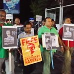 Free The Climate Hero NOW #FreePresidentNasheed #EarthHour2015 #EarthHour #NasheedJailed #Maldives http://t.co/J2FMzqSclG