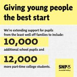 NS: We will extend the EMA scrapped by the Tories south of the border to 10,000 additional students #SNPConf http://t.co/79FDFL2sao