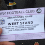 A 500 mile round trip for 6 minutes of football - this is what @SUFCRootsHall fans were given. [via @ChelmsfordBlues] http://t.co/jDbHuIlTGw
