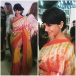 RT @MissMalini: Spotted the gorgeous @mandirabedi in her own stunning banaras lumiere sari! #AIFW #IndianF… http://t.co/HGCTmvwnYv http://t…